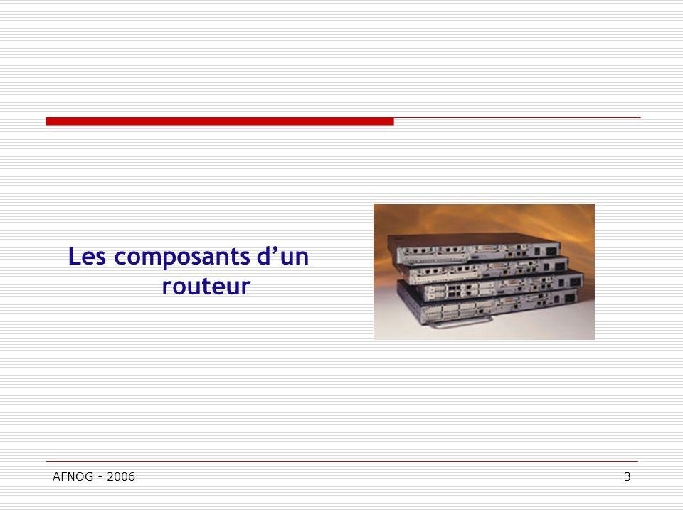 AFNOG - 20063 Les composants dun routeur