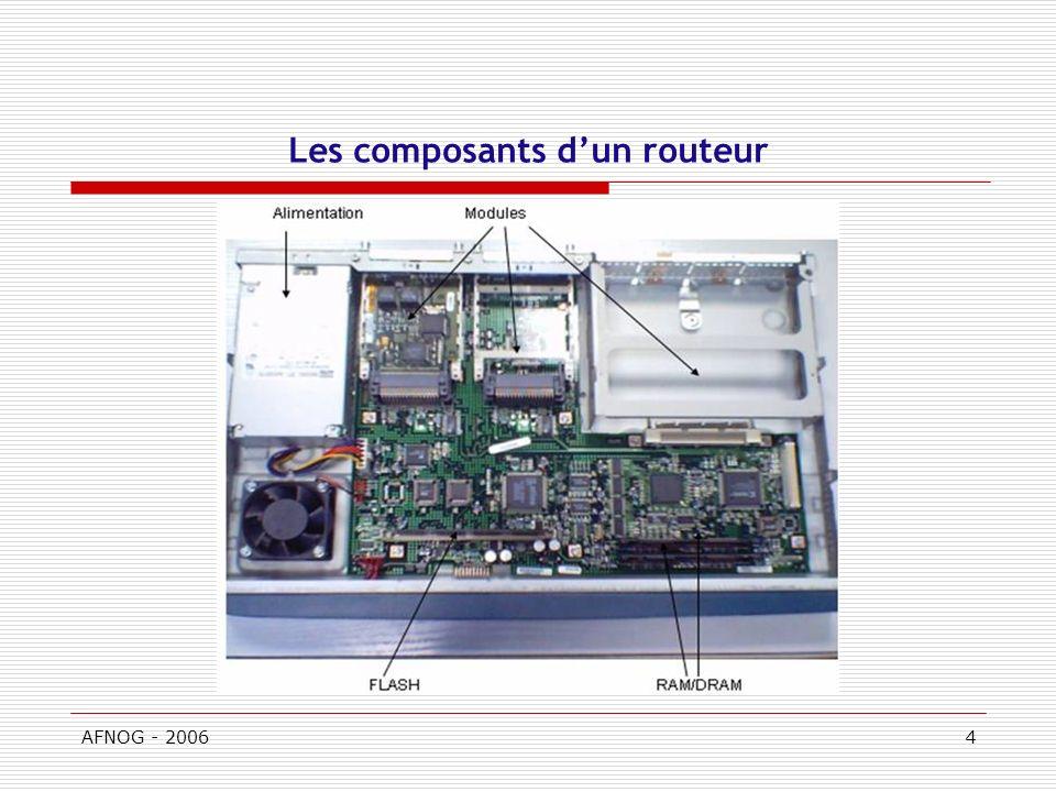 AFNOG - 20064 Les composants dun routeur