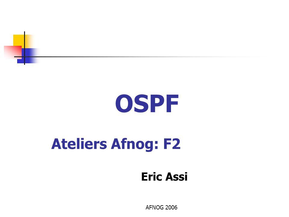 AFNOG 2006 OSPF Ateliers Afnog: F2 Eric Assi