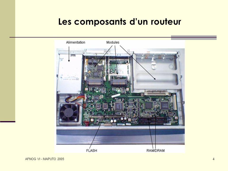 AFNOG VI - MAPUTO 2005 4 Les composants dun routeur