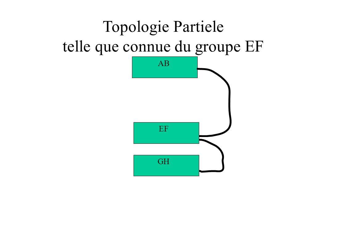 Topologie Partiele telle que connue du groupe EF GH EF AB