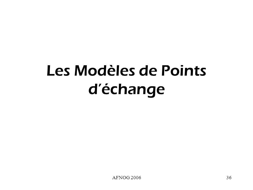 AFNOG 200636 Les Modèles de Points déchange