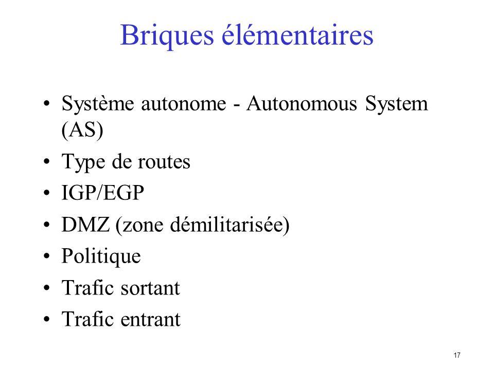 16 Briques élémentaires