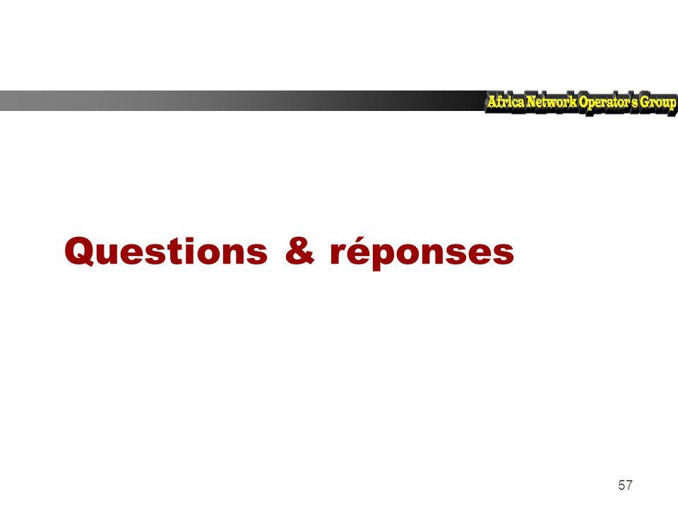 57 Questions & réponses