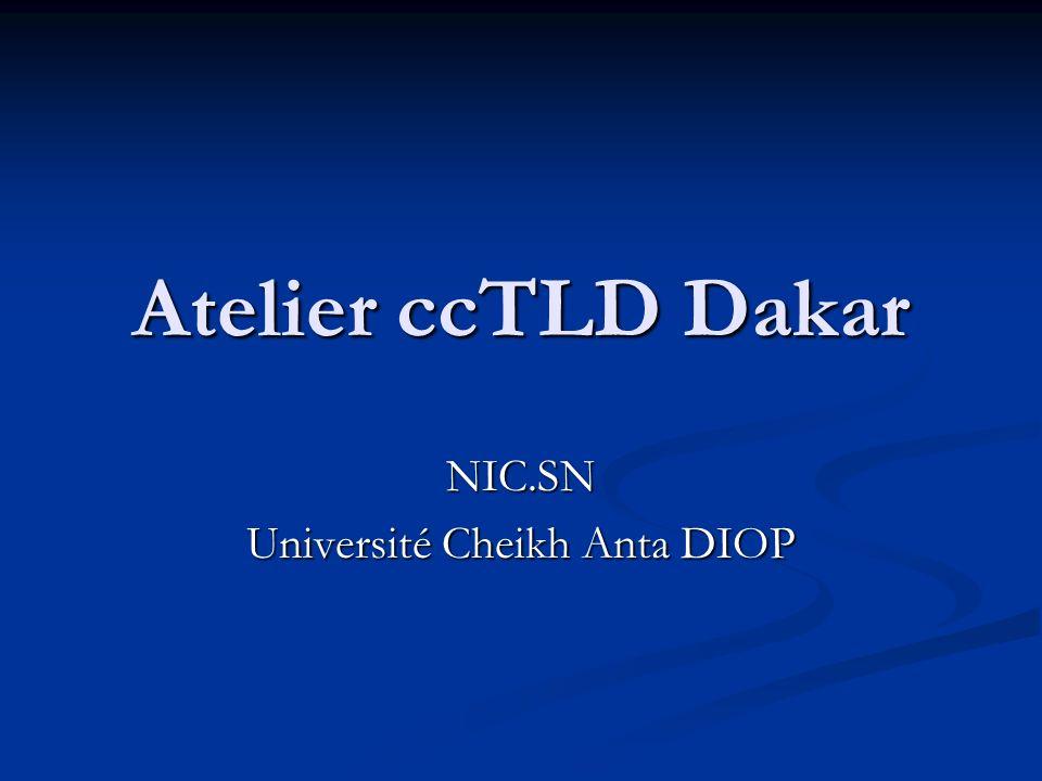 Atelier ccTLD Dakar NIC.SN Université Cheikh Anta DIOP
