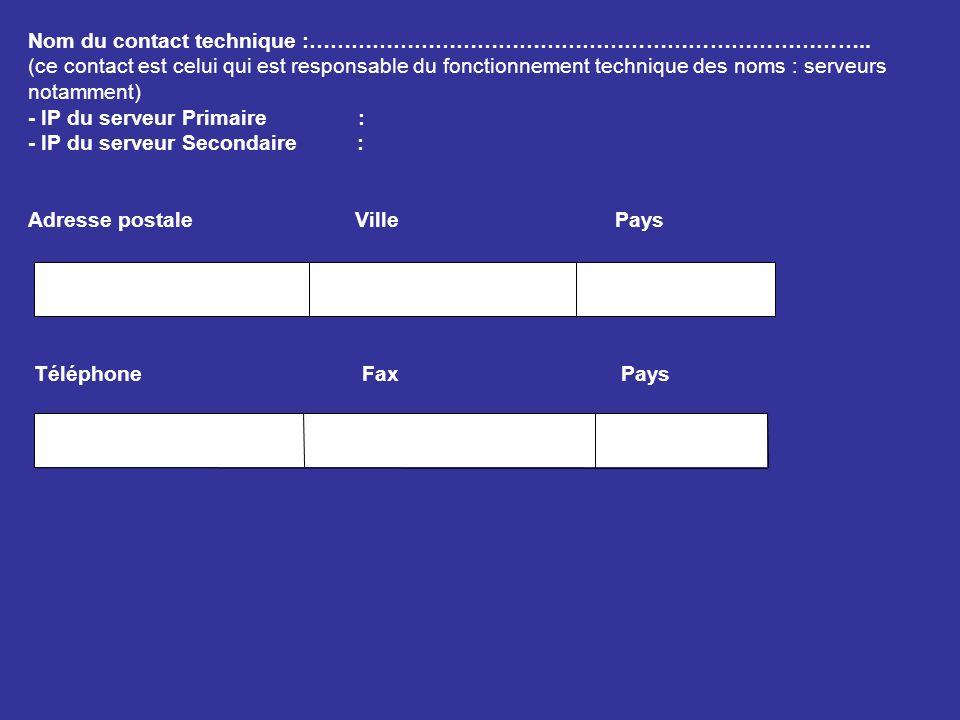 TYPE DE SERVICE SOUHAITE Réservation de nom de domaine 50.000 FCFA H.T / an Frais denregistrement pour les DNS.com.org.net Pour les clients au Tchad 25 euro / an MODE DE REGELEMENT Chèque bancaire ou transfert à lordre de la SOTEL TCHAD (COMPTE N° 4299 AGENCE 472 CREDIT LYONNAIS) A NDjamena, le…………………………….