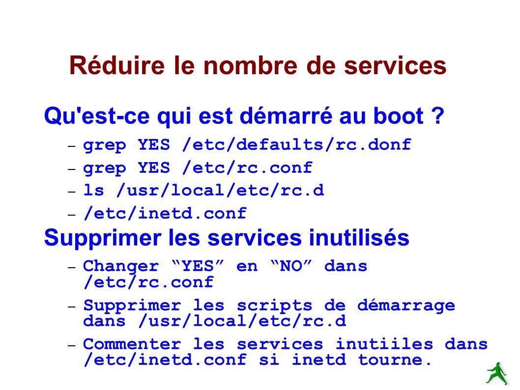 Réduire le nombre de services Qu est-ce qui est démarré au boot .