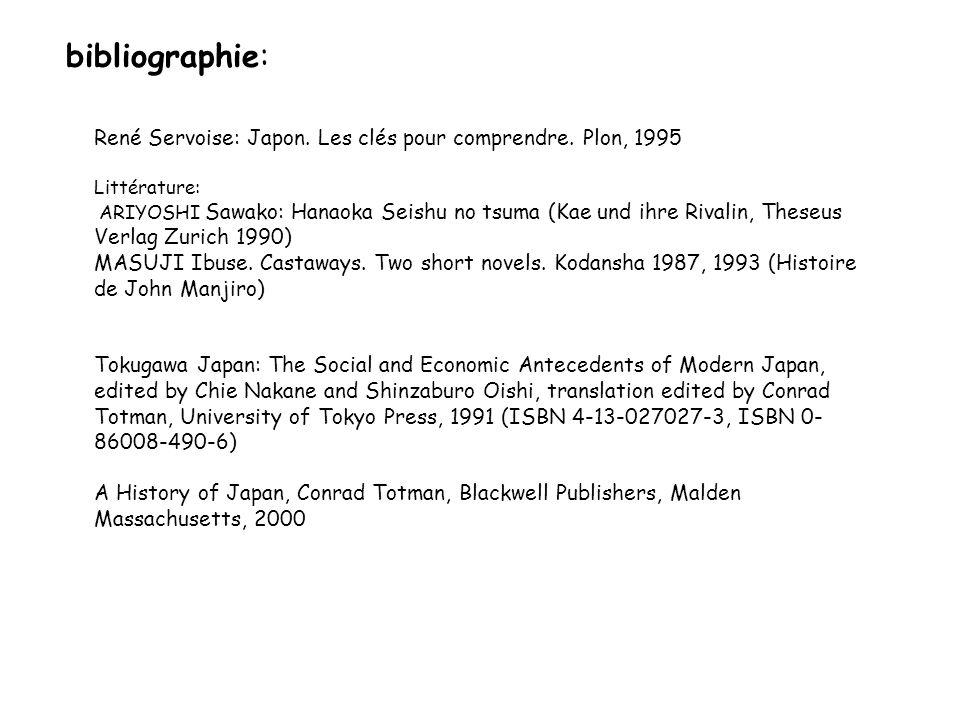 bibliographie: René Servoise: Japon. Les clés pour comprendre. Plon, 1995 Littérature: ARIYOSHI Sawako: Hanaoka Seishu no tsuma (Kae und ihre Rivalin,