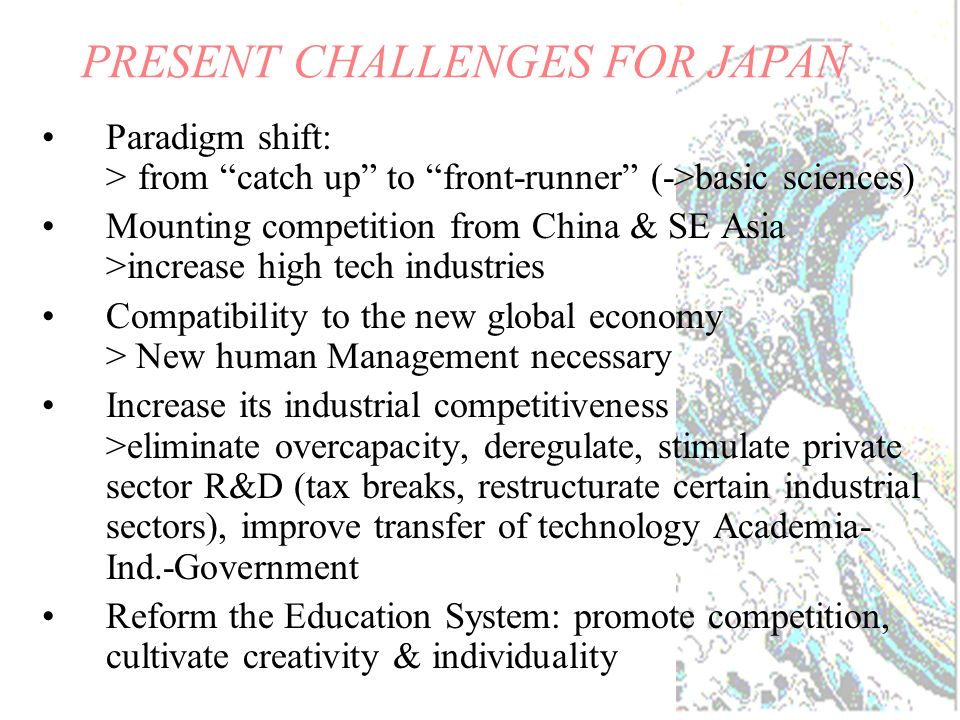 Japanese Strength in Technology: a technological powerhouse.