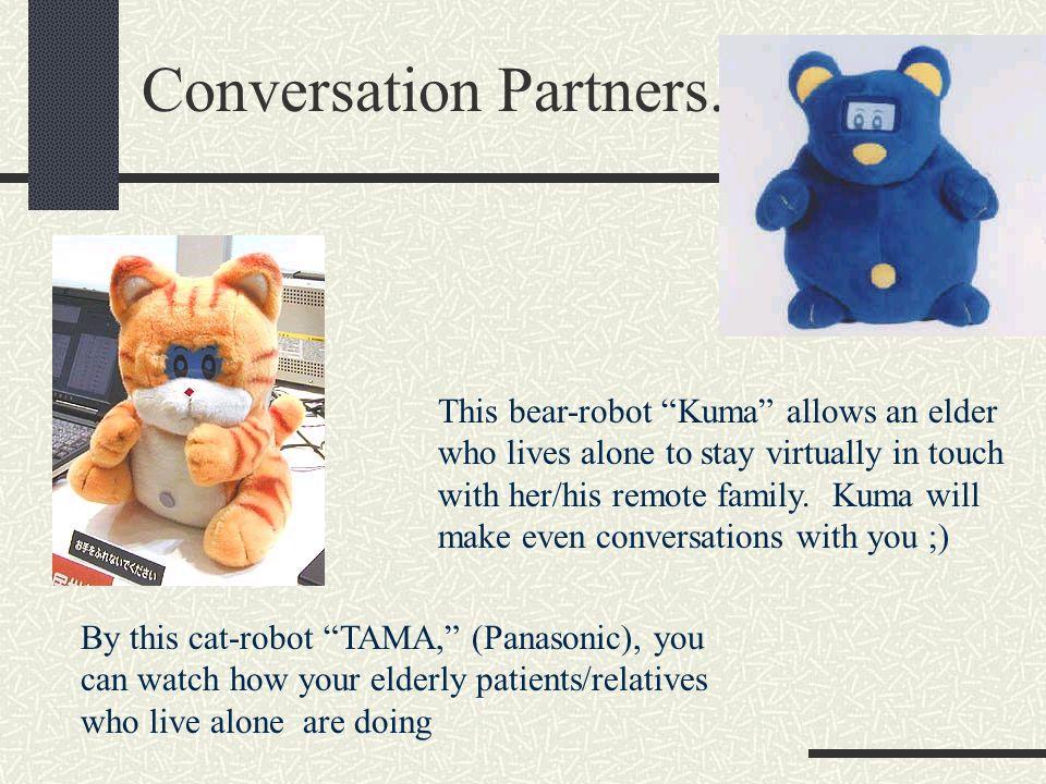 Robotique: tendances au Japon 60% de lensemble des installations de robotique au monde Une robotique industrielle stagnante Une robotique « personnelle » émergente et en forte croissance (« robots de compagnie » différents des manipulateurs et micromachines) Aibo, le robot chien de Sony; Tama, le robot chat dOMRON; Kuma, le robot ours de Matsushita doté dune reconnaissance de voix et dun synthétiseur permettant le dialogue.