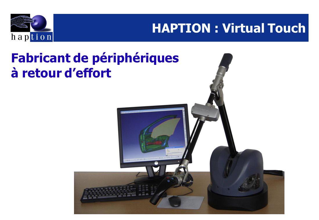 HAPTION : Virtual Touch Fabricant de périphériques à retour deffort