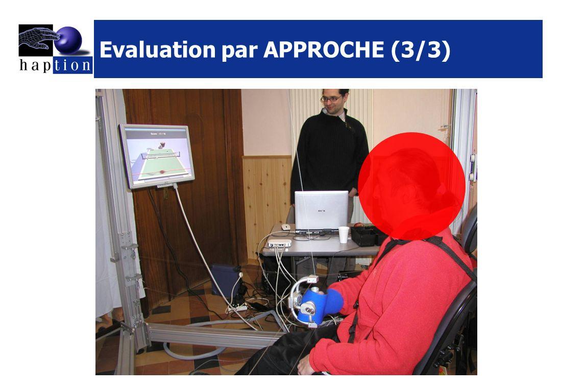 Evaluation par APPROCHE (3/3)