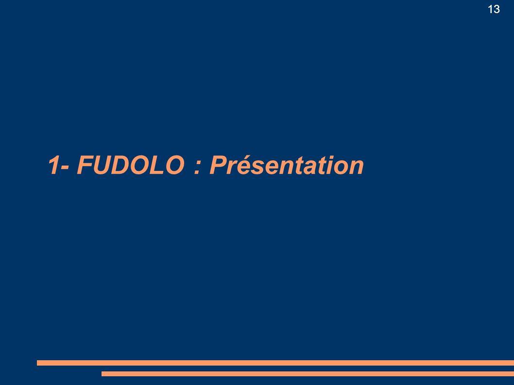 13 1- FUDOLO : Présentation
