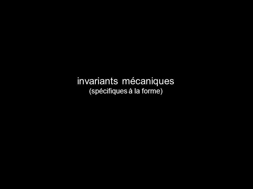 invariants mécaniques (spécifiques à la forme)