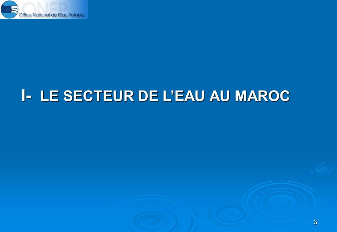 3 I- LE SECTEUR DE LEAU AU MAROC