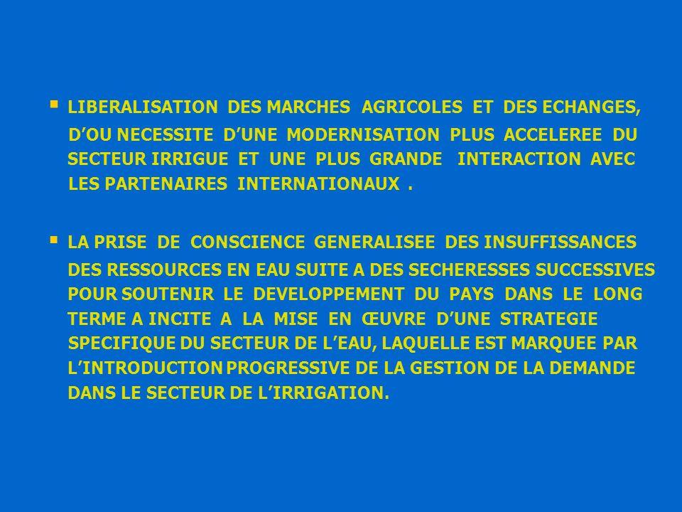II – LA GESTION DE LA DEMANDE DANS LE SECTEUR DE LIRRIGATION.