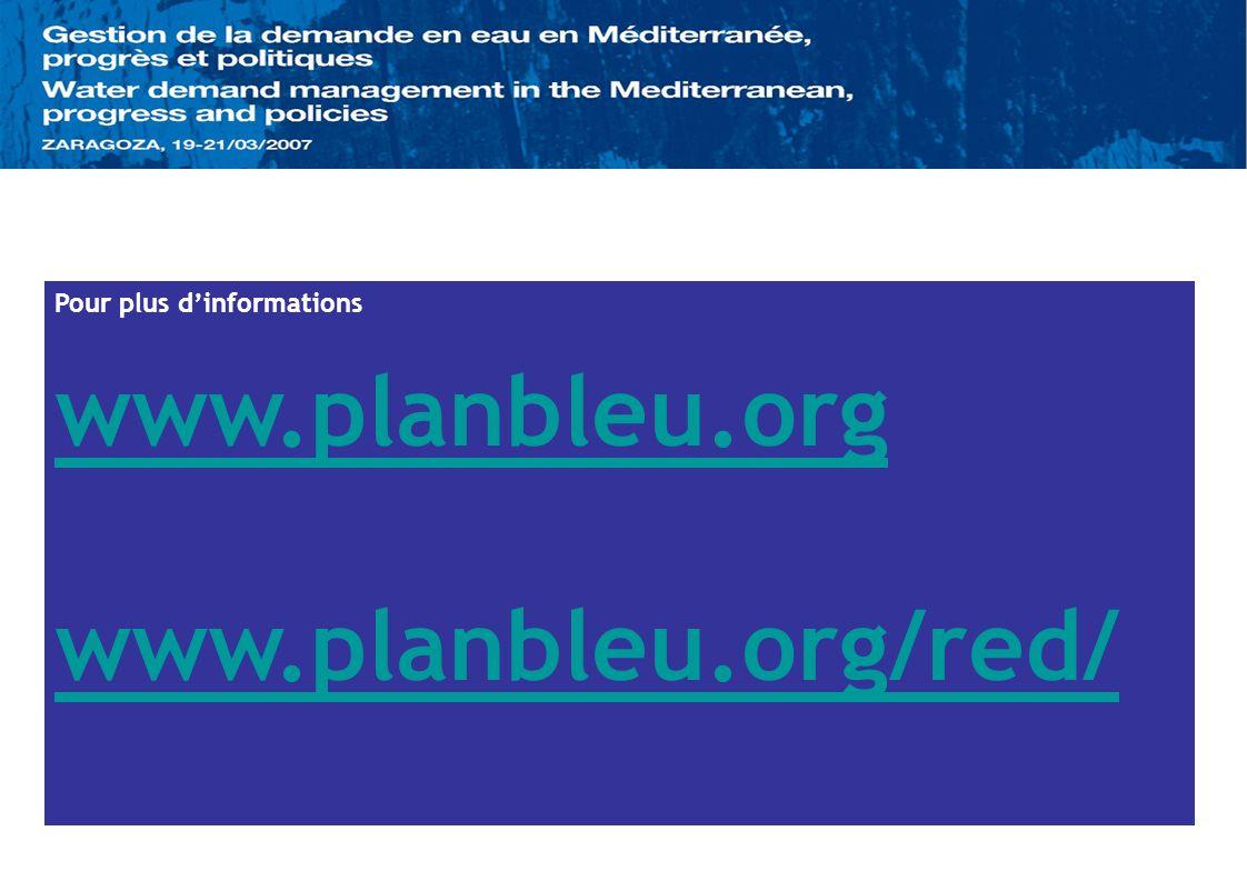Pour plus dinformations www.planbleu.org www.planbleu.org/red/
