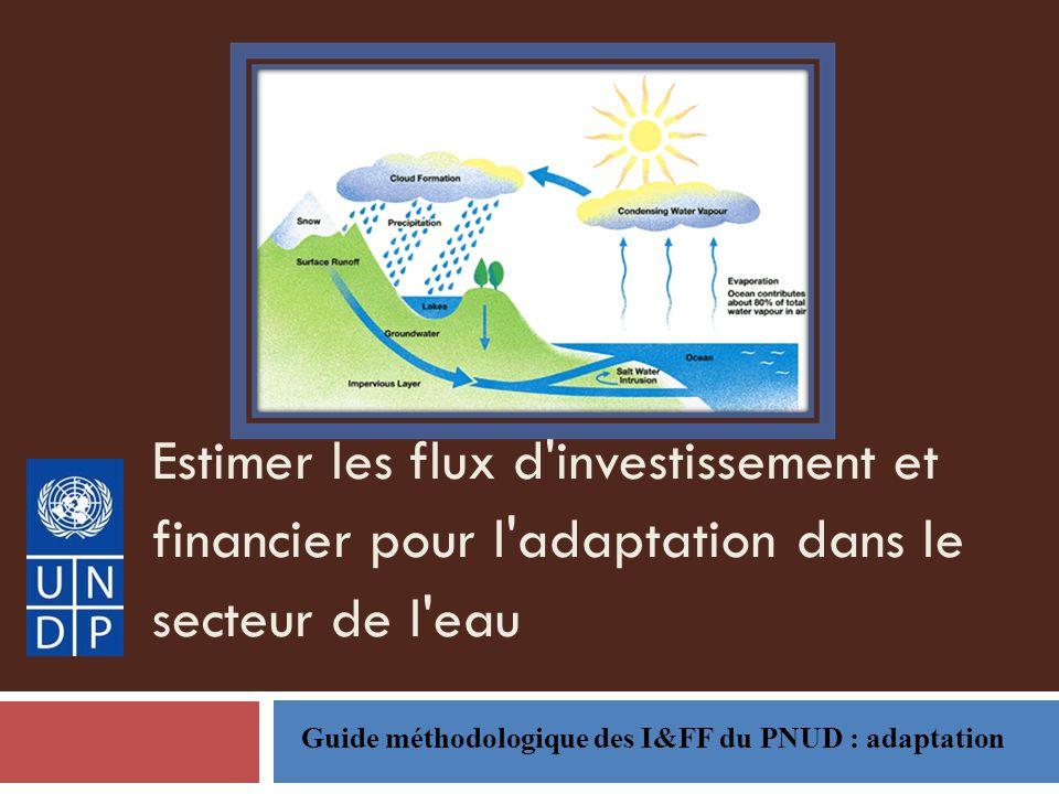 Estimer les flux d'investissement et financier pour l'adaptation dans le secteur de l'eau Guide méthodologique des I&FF du PNUD : adaptation