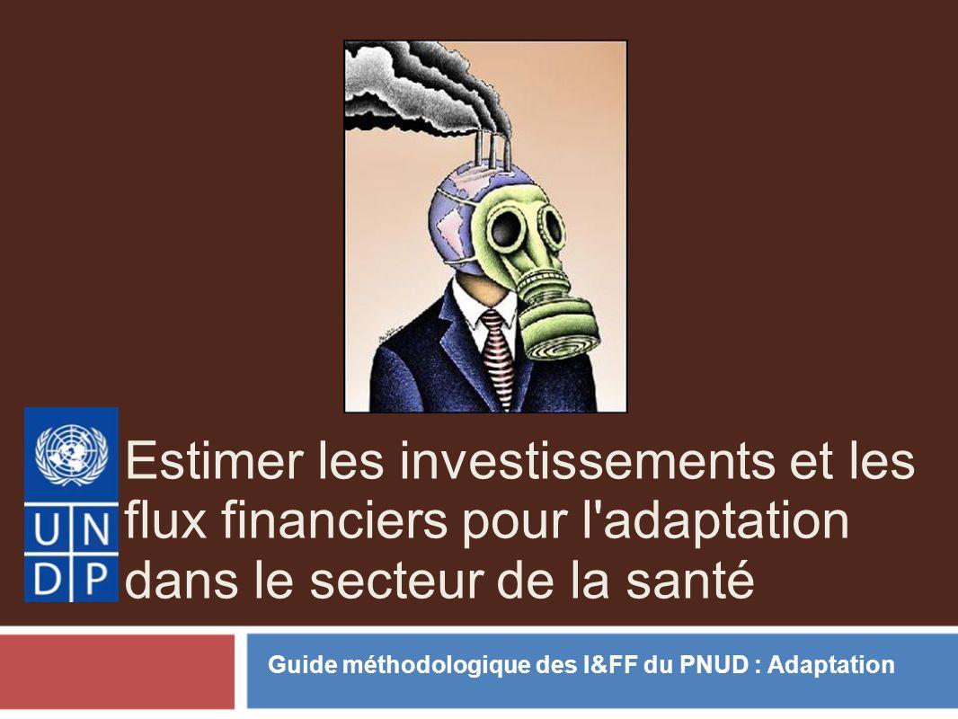 Estimer les investissements et les flux financiers pour l adaptation dans le secteur de la santé Guide méthodologique des I&FF du PNUD : Adaptation