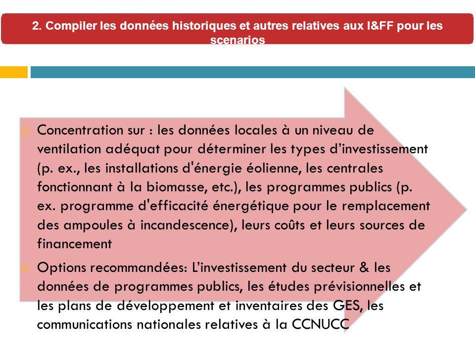 Concentration sur : les données locales à un niveau de ventilation adéquat pour déterminer les types dinvestissement (p.