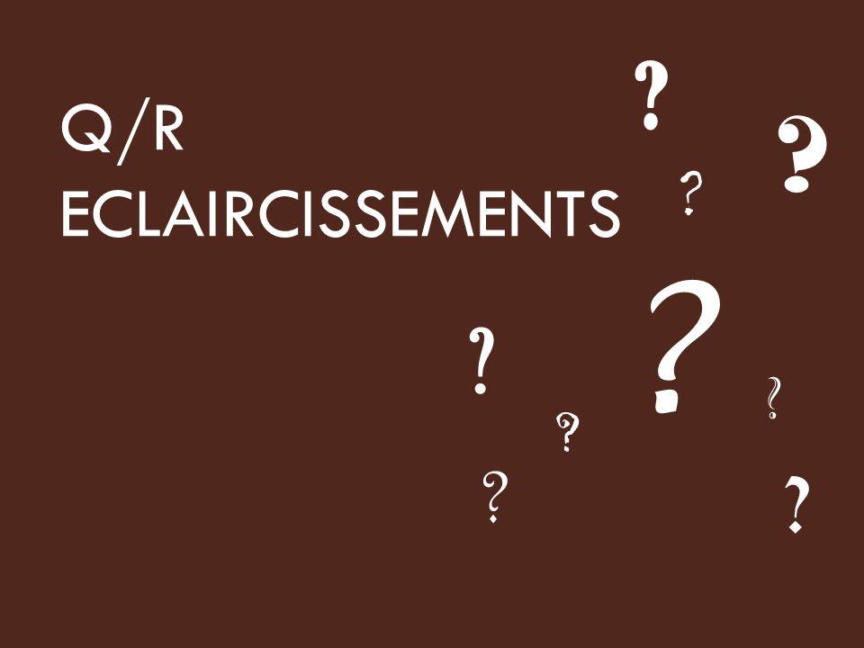 Q/R ECLAIRCISSEMENTS
