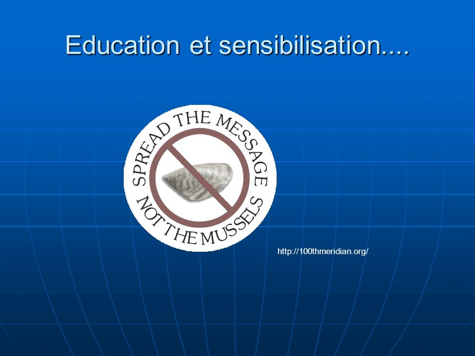 Education et sensibilisation.... http://100thmeridian.org/
