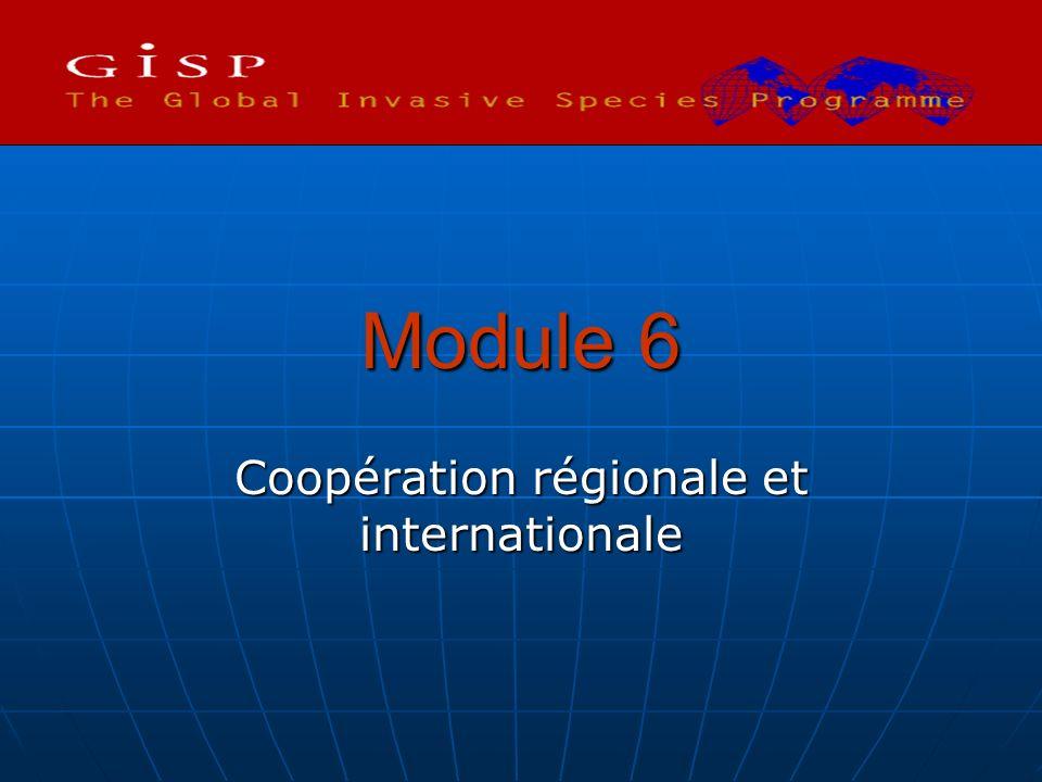 Module 6 Coopération régionale et internationale
