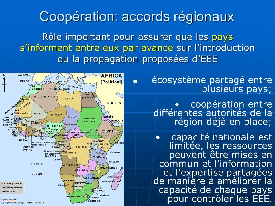 écosystème partagé entre plusieurs pays; coopération entre différentes autorités de la région déjà en place; capacité nationale est limitée, les resso