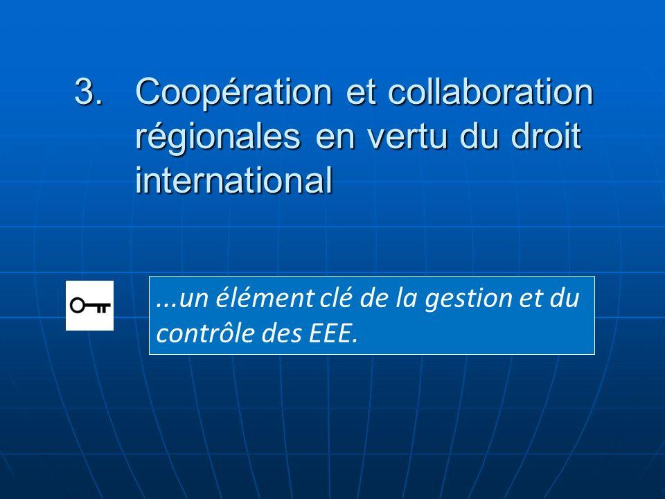 ...un élément clé de la gestion et du contrôle des EEE. 3.Coopération et collaboration régionales en vertu du droit international