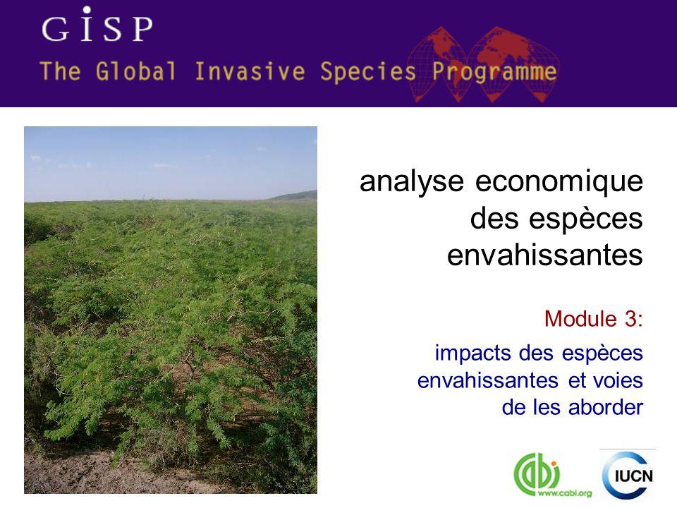 Module 3: impacts des espèces envahissantes et voies de les aborder analyse economique des espèces envahissantes
