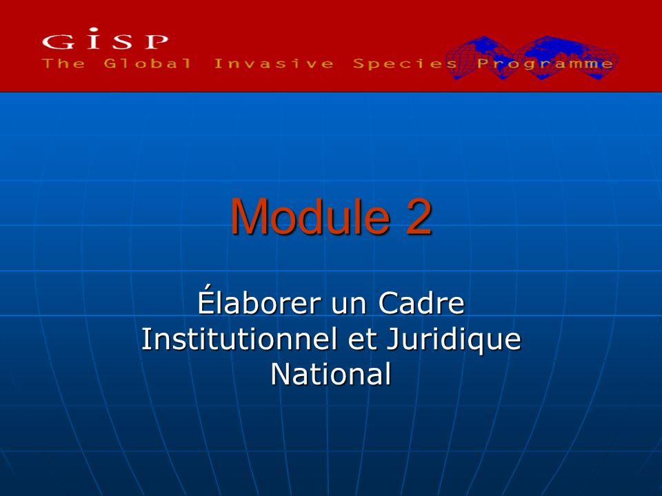 Module 2 Élaborer un Cadre Institutionnel et Juridique National