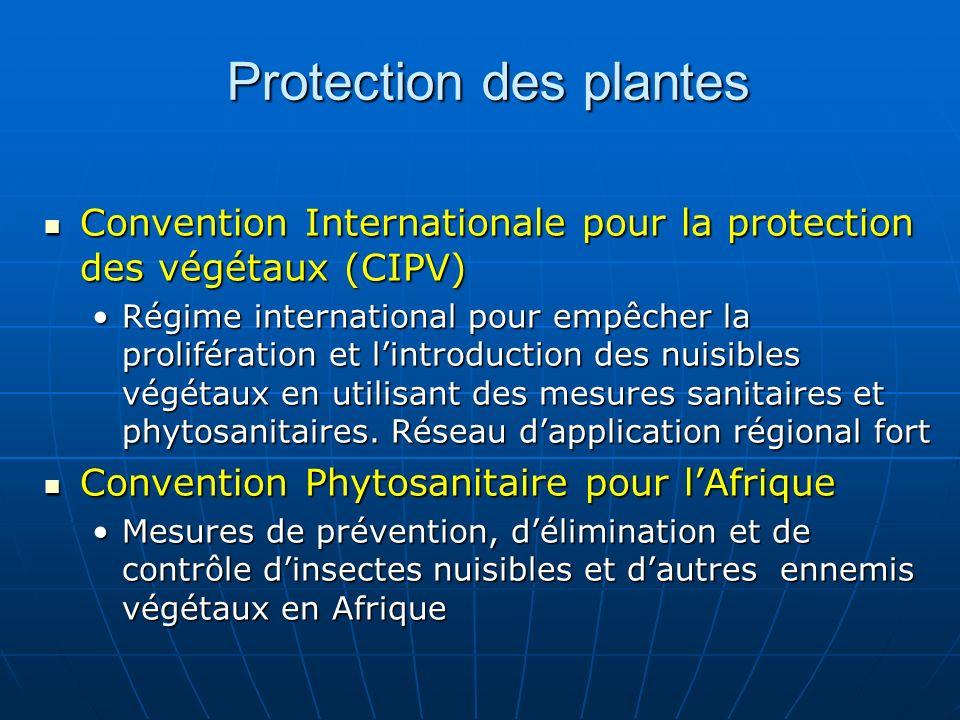 Protection des plantes Convention Internationale pour la protection des végétaux (CIPV) Convention Internationale pour la protection des végétaux (CIP