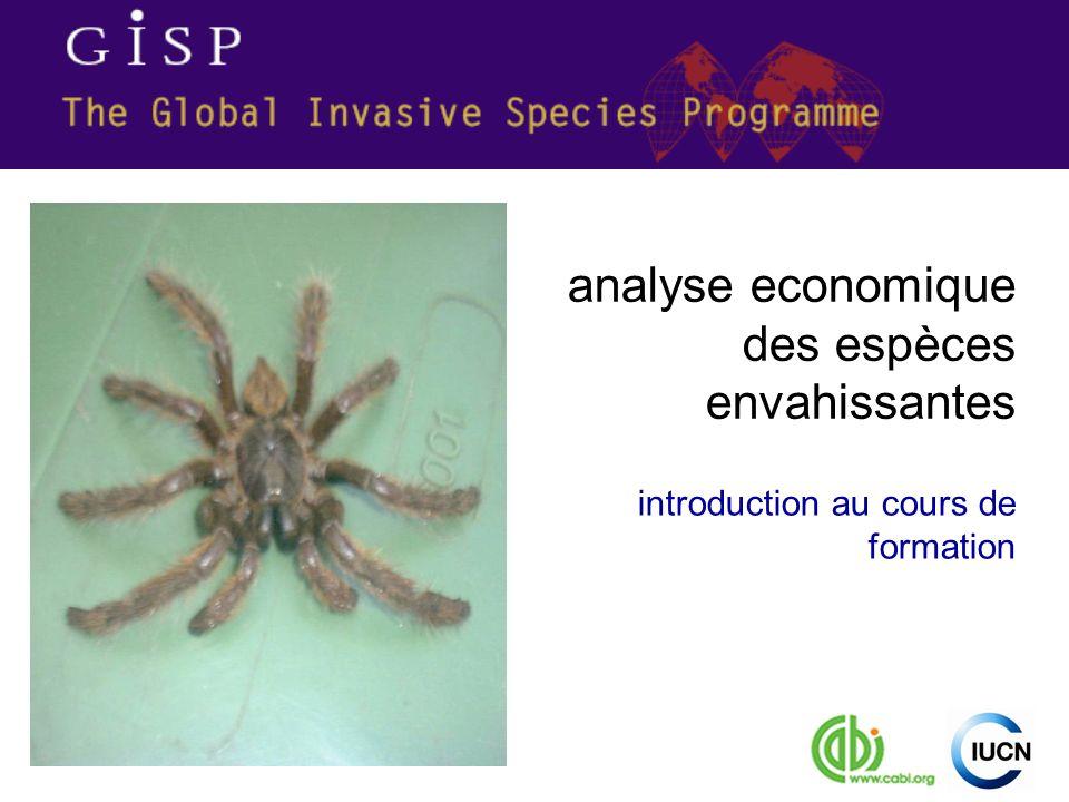 introduction au cours de formation analyse economique des espèces envahissantes