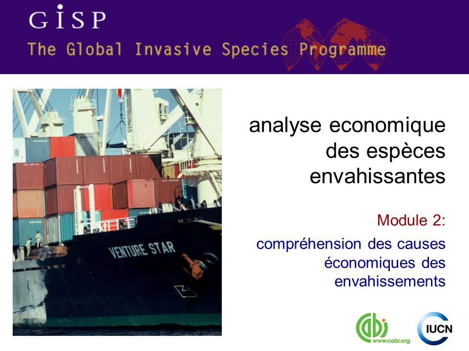 Module 2: compréhension des causes économiques des envahissements analyse economique des espèces envahissantes