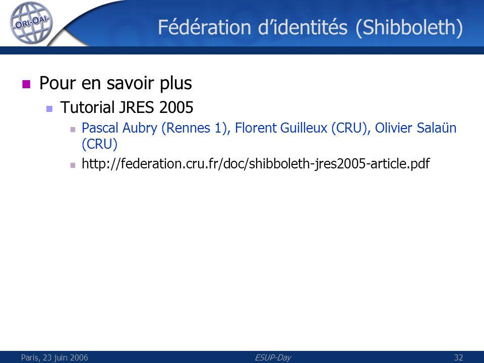 Paris, 23 juin 2006ESUP-Day33 UNIT Vue Consortium Site Web UNIT Moissonneur UVED Moissonneur Site Web UVED Etc…