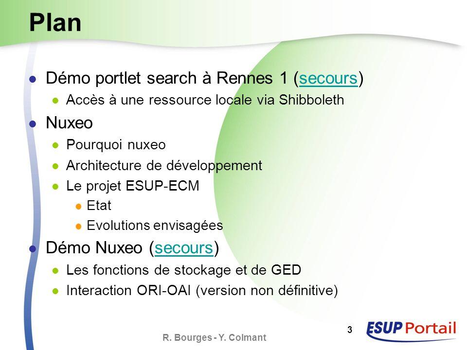 R. Bourges - Y. Colmant 4 Démo portlet search à Rennes 1