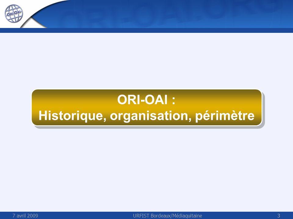7 avril 2009URFIST Bordeaux/Médiaquitaine34 ORI-OAI Concept de classification