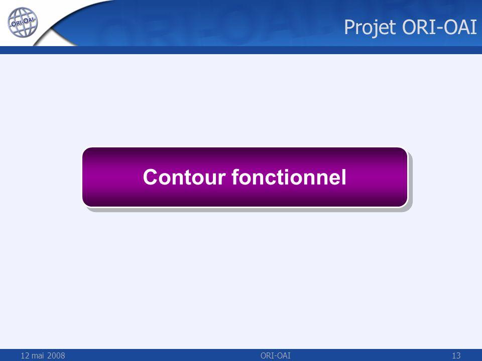 12 mai 2008ORI-OAI13 Contour fonctionnel Projet ORI-OAI