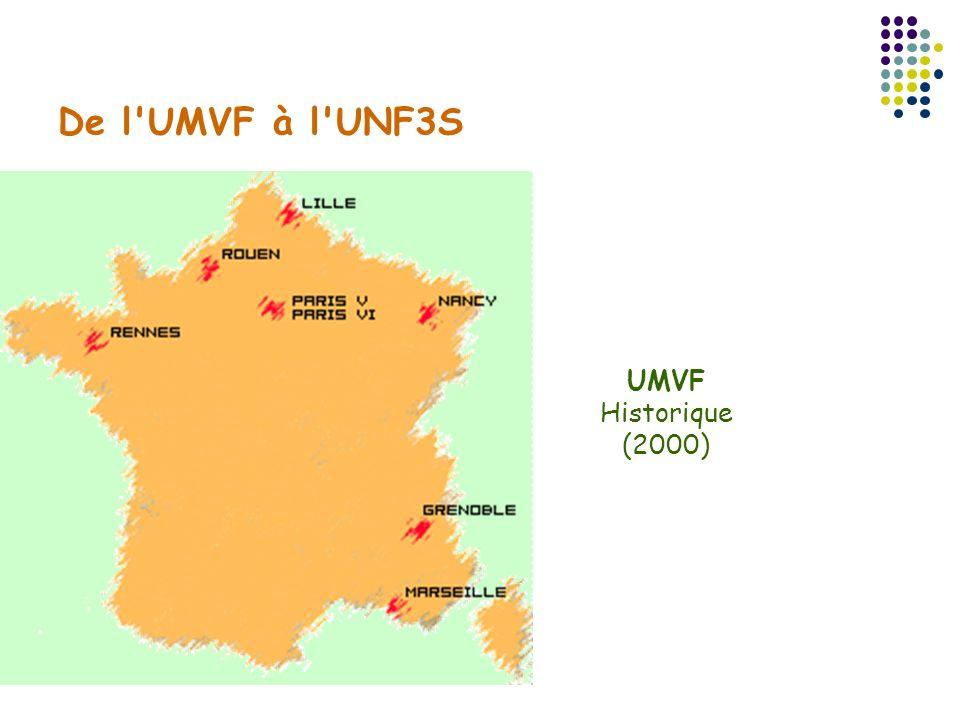 UMVF 33 Universités Françaises ayant une composante médicale UNF3S 55 Universités ?
