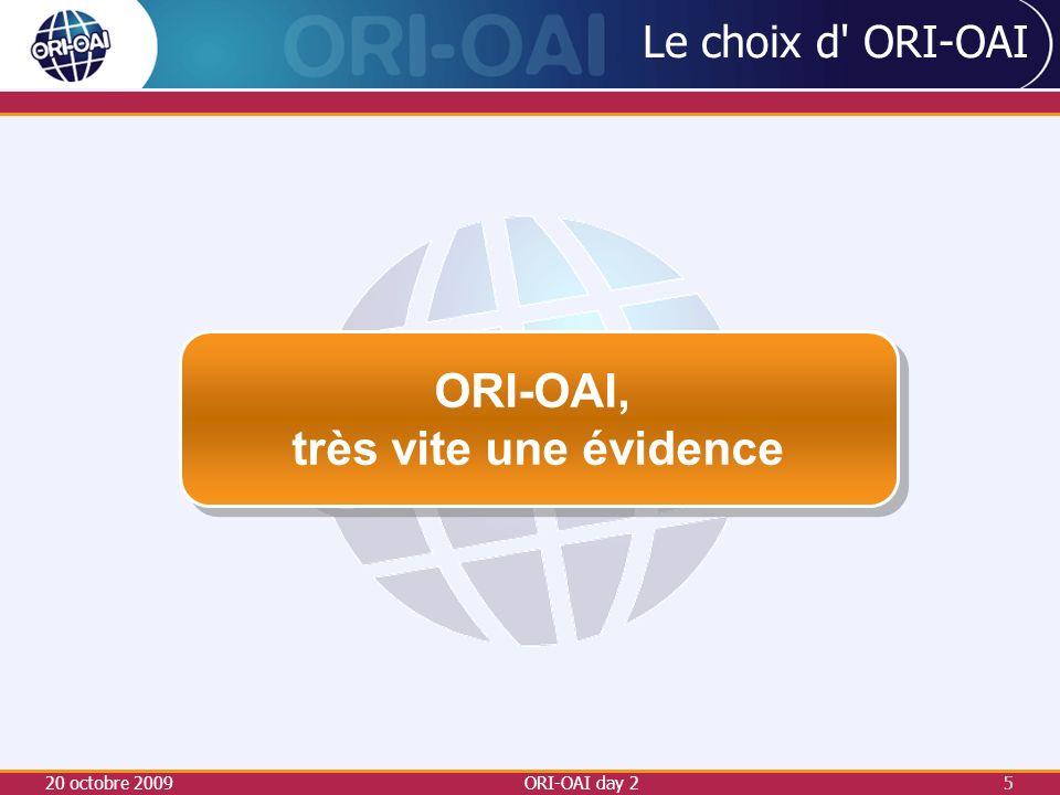 Le choix d ORI-OAI Nouvel élan : le dépôt électronique des thèses Voté en CS, pour un démarrage en septembre 2008 Le SCD missionné pour la mise en place d un nouveau circuit pour le traitement des thèses.