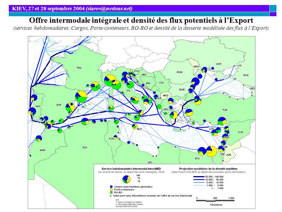 Offre intermodale intégrale et densité des flux potentiels à lExport Offre intermodale intégrale et densité des flux potentiels à lExport (services he