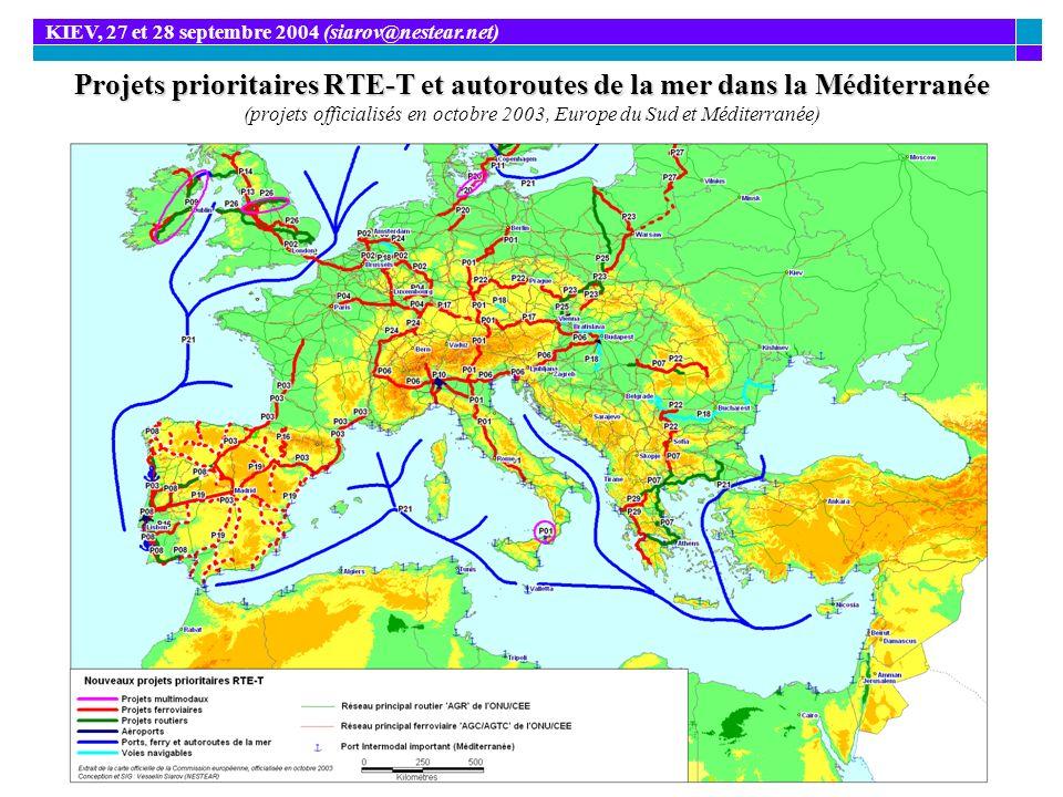 Projets prioritaires RTE-T et autoroutes de la mer dans la Méditerranée Projets prioritaires RTE-T et autoroutes de la mer dans la Méditerranée (proje