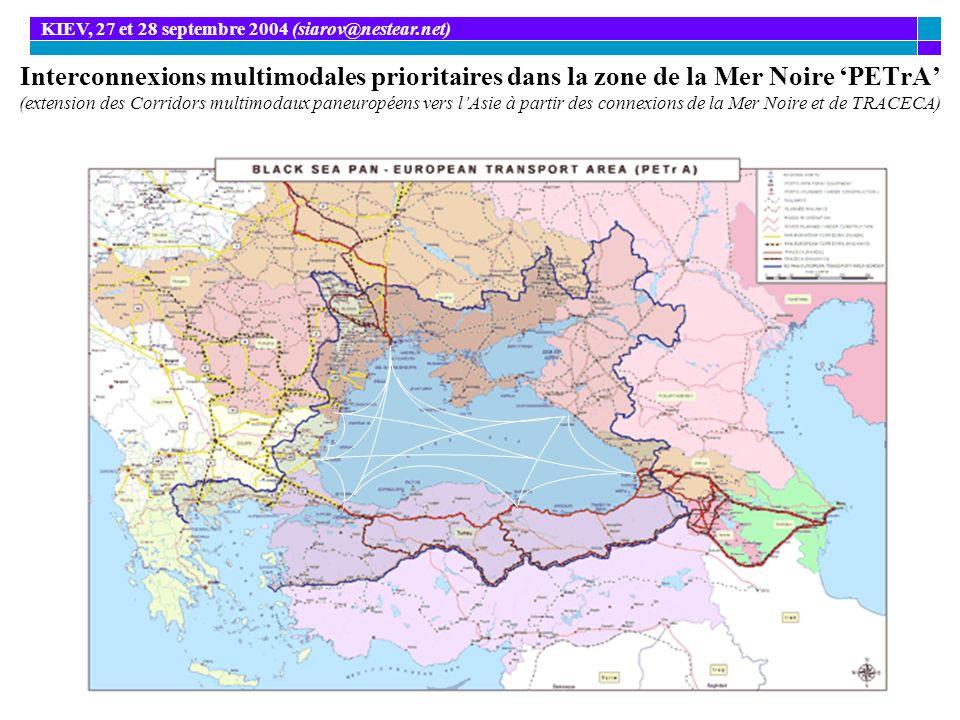 Interconnexions multimodales prioritaires dans la zone de la Mer Noire PETrA (extension des Corridors multimodaux paneuropéens vers lAsie à partir des
