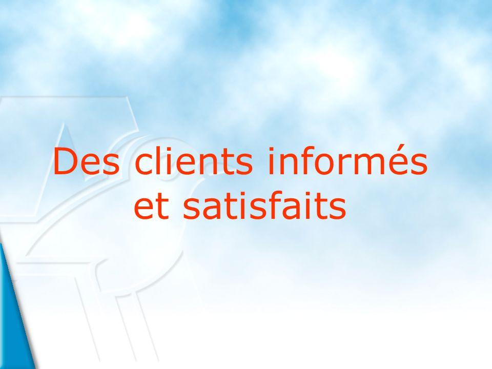 Des clients informés et satisfaits