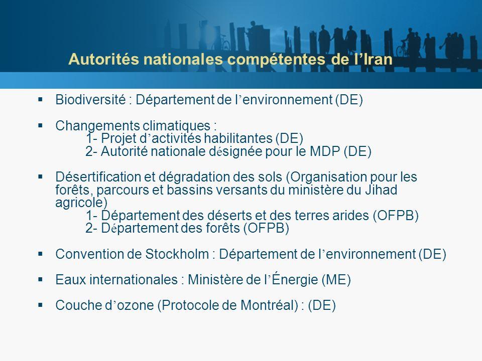 Comité national pour le développement durable de lIran Le Comité national pour le développement durable (CNDD) détermine les politiques et objectifs des divers sous-comités nationaux.