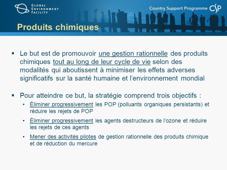 Produits chimiques Le but est de promouvoir une gestion rationnelle des produits chimiques tout au long de leur cycle de vie selon des modalités qui a