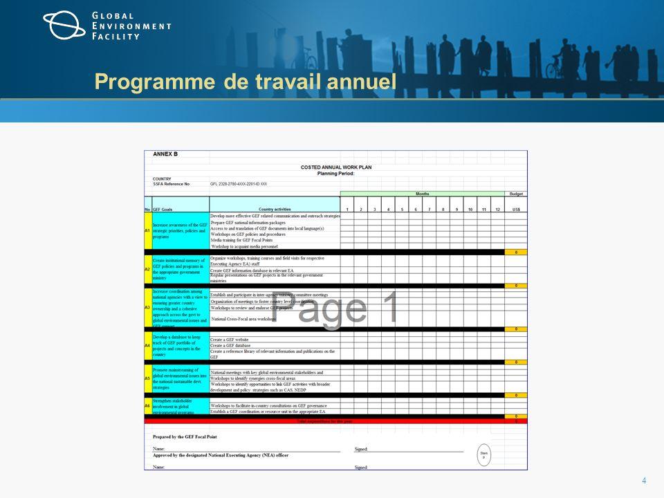 Programme de travail annuel 4