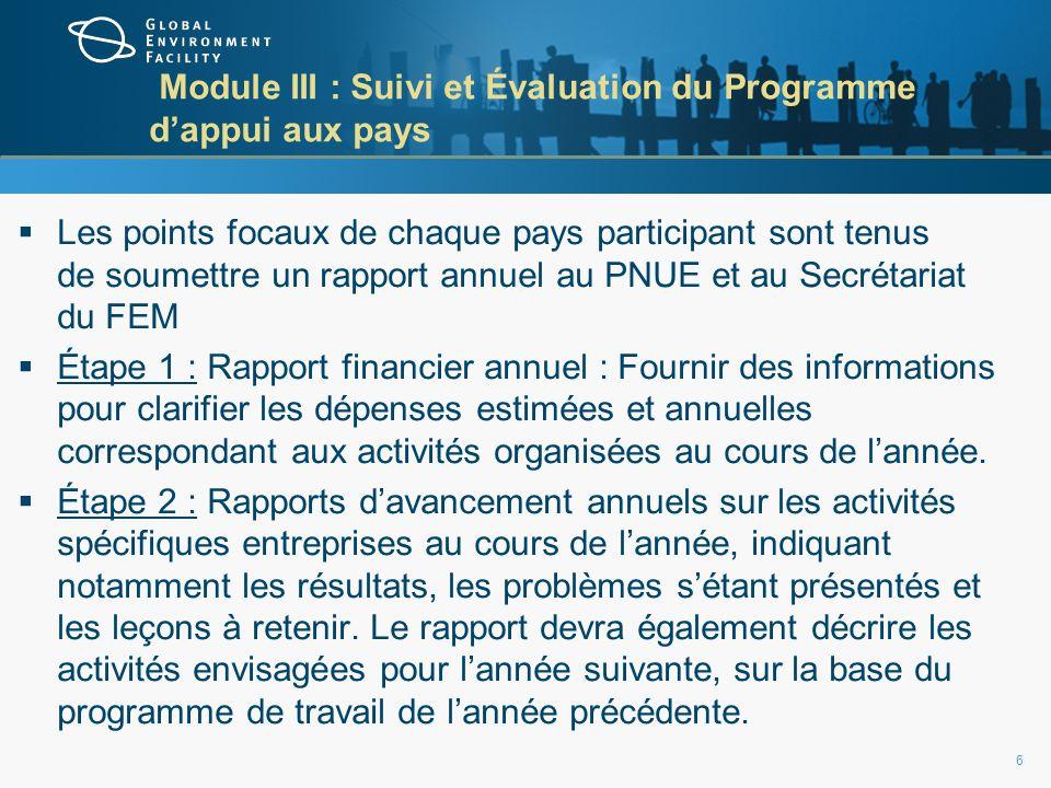 Rapport financier annuel 7