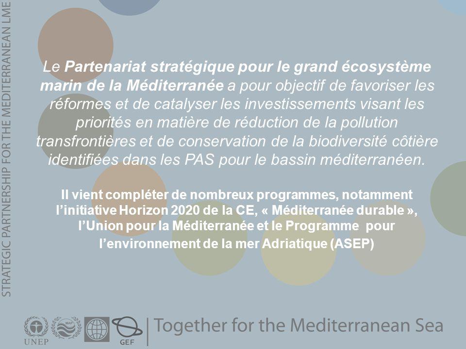 Il vient compléter de nombreux programmes, notamment linitiative Horizon 2020 de la CE, « Méditerranée durable », lUnion pour la Méditerranée et le Pr