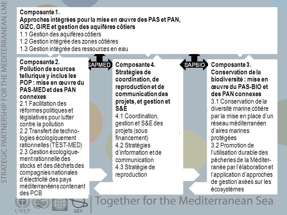 Composante 1. Approches intégrées pour la mise en œuvre des PAS et PAN, GIZC, GIRE et gestion des aquifères côtiers 1.1 Gestion des aquifères côtiers
